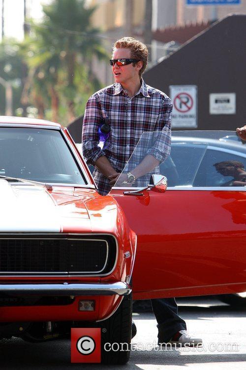 Spencer Pratt picks up his vintage Chevrolet Camaro...