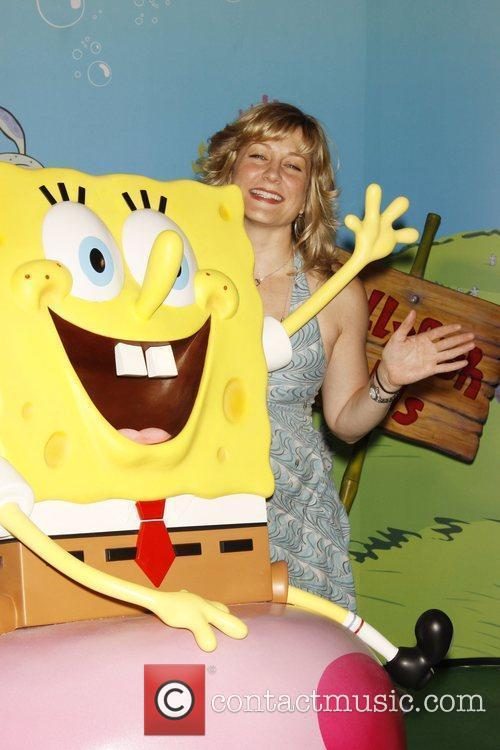 Amy Carlson attends the unveiling of a SpongeBob...