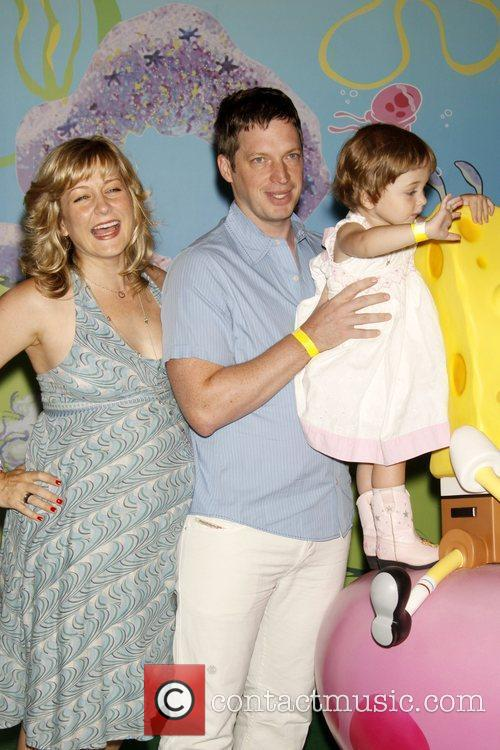 Amy Carlson and Spongebob Squarepants