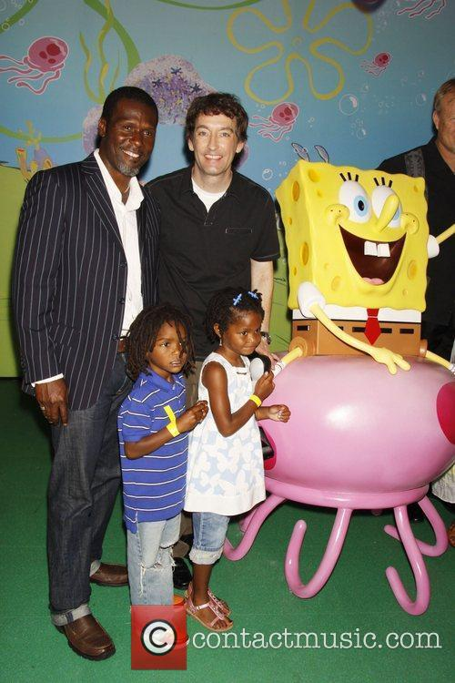 Curtis Cook and Tom Kenny, voice of SpongeBob...