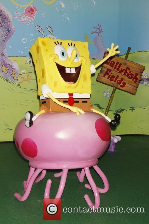 Unveiling of a SpongeBob SquarePants wax figure in...
