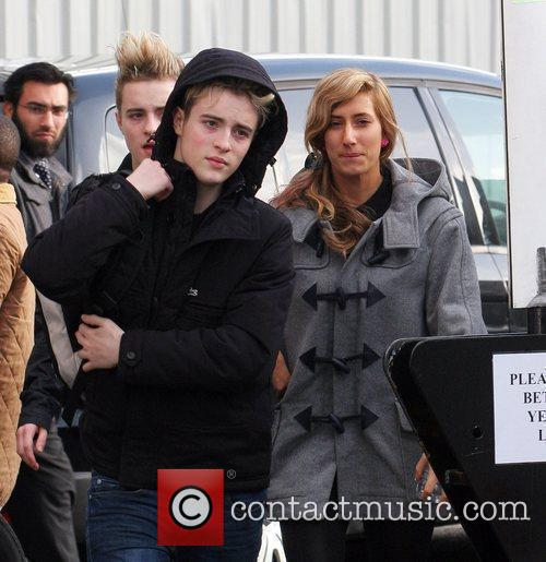 X-Factor twins John Grimes and Edward Grimes and...