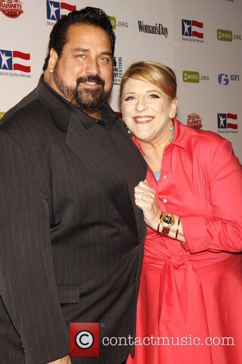 Lisa Lampanelli and Bob Woodruff