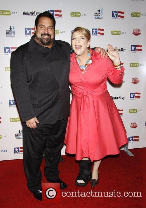 Lisa Lampanelli and her fiance Jimmy Bigballs 'Stand...