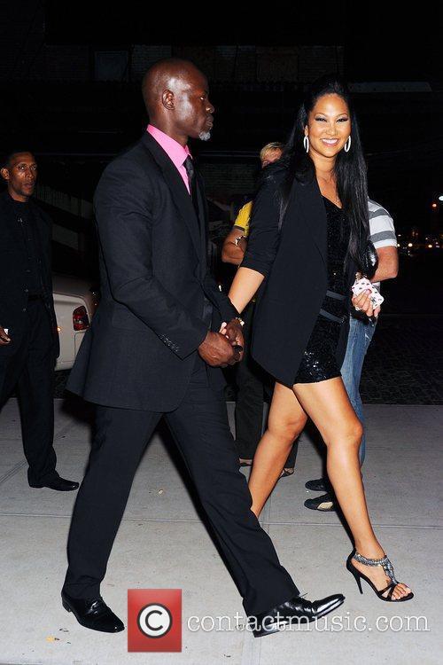 Djimon Hounsou and Kimora Lee Simmons arrive at...