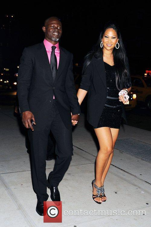 Djimon Hounsou and Kimora Lee Simmons 2
