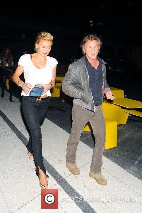 Sean Penn and A Friend Arrive At The Standard Hotel In Manhattan's Meatpacking District 3