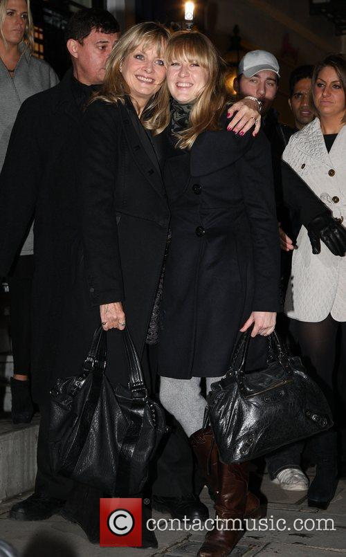 Twiggy and daughter, Carly Lawson Stella McCartney boutique...