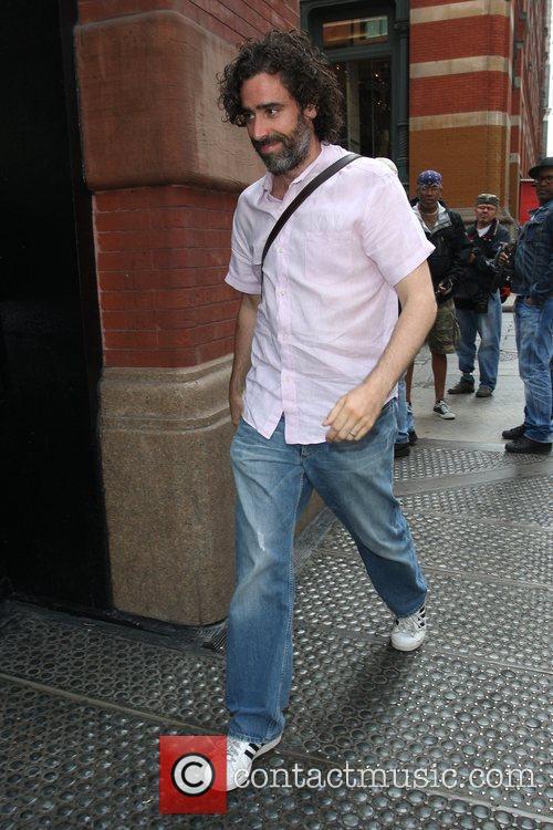 Stephen Mangan seen arriving back at his hotel...