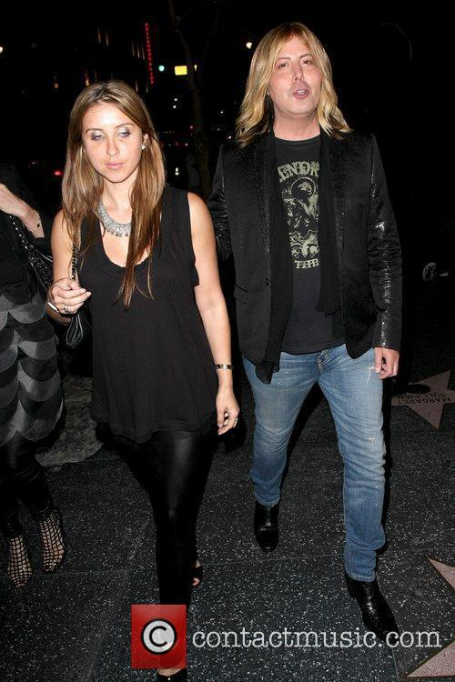 Steven Cojocaru fashion critic leaving Bardot nightclub with...