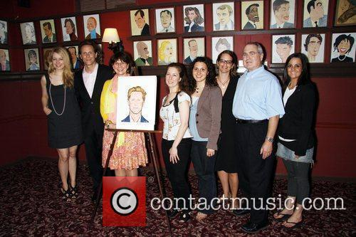 Steven Weber and cast  attend the unveiling...