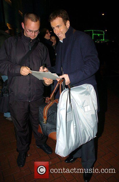Anton du Beke arrives back at his hotel...