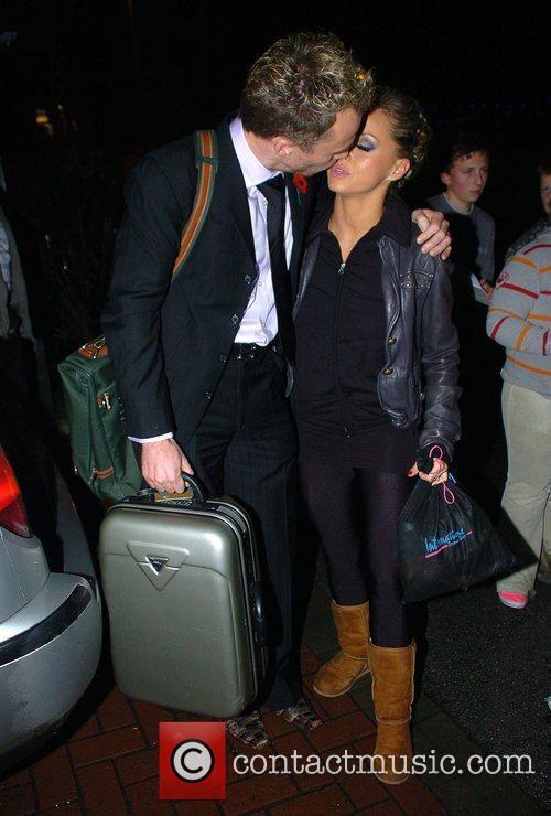 Richard Dunwoody and Lilia Kopylova  arrive back...