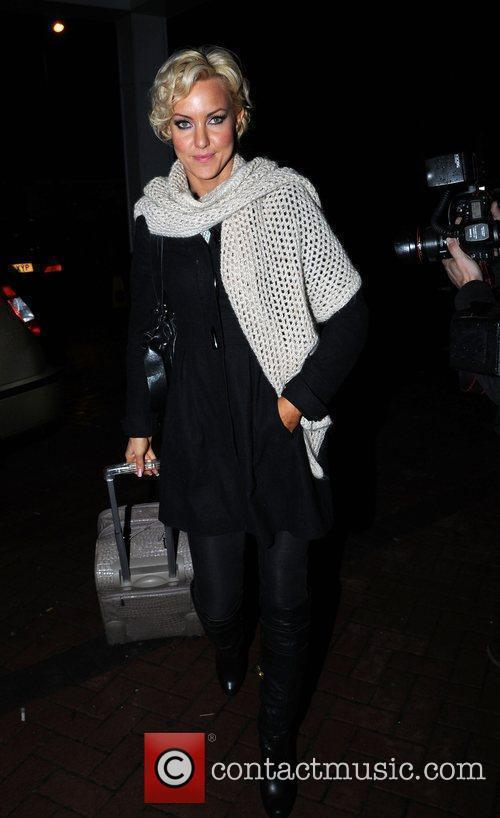 Natalie Lowe arrives back at her hotel after...