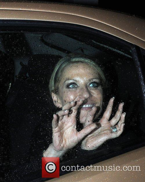 Zoe Lucker arrives back at her hotel after...