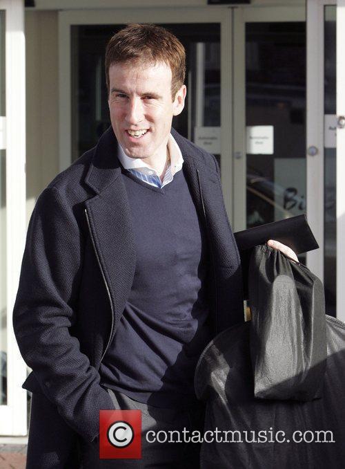 Anton du Beke leaves his hotel to head...