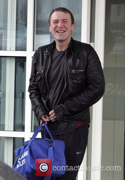 Phil Tufnell leaves his hotel to head to...