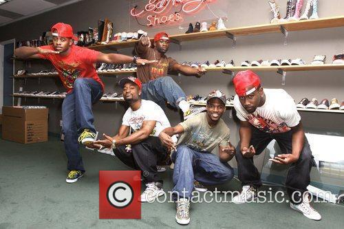 Dance crew visits the Ed Hardy Shoe warehouse...