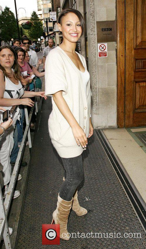 Amelle Berrabah of the Sugababes outside the BBC...