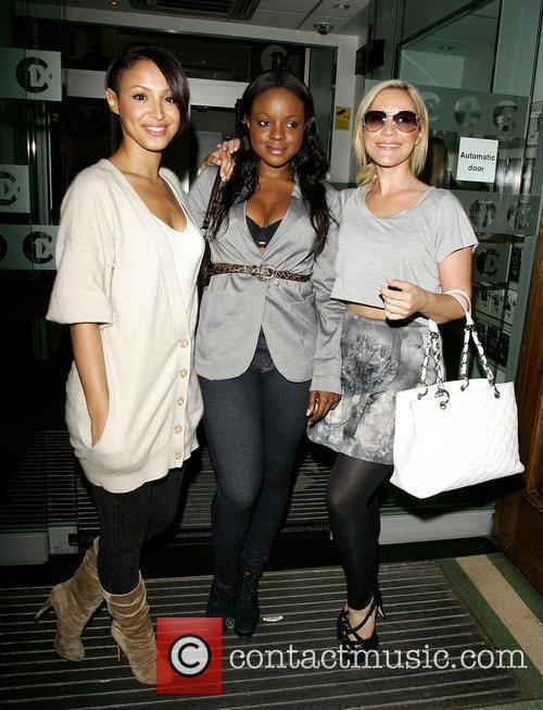 The Sugababes outside the BBC Radio 1 studios...