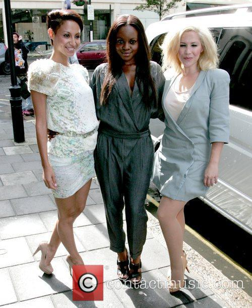Amelle Berrabah, Keisha Buchanan and Heidi Range of...