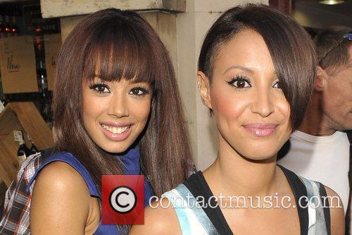 Jade Ewen and Amelle Berrabah Sugababes outside Radio...