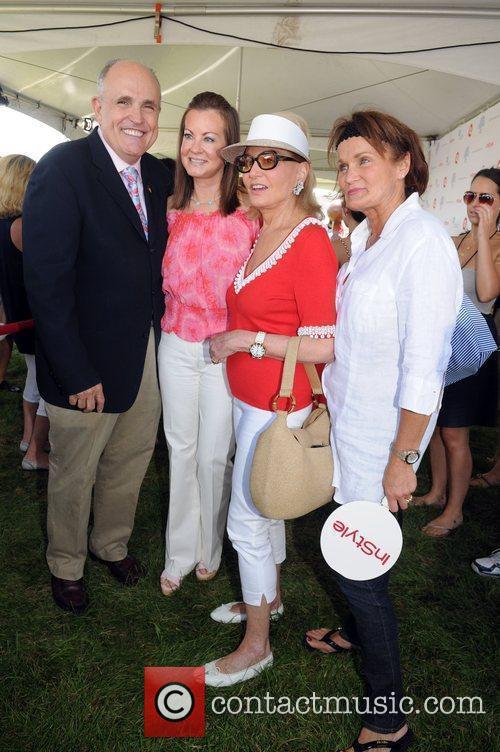 Rudy Giuliani, Judy Nathan, Barbara Walters and guest...