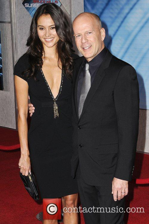 Bruce Willis, Emma Hemming The World Premiere of...