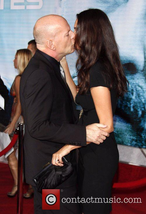 Bruce Willis and Emma Hemming The World Premiere...