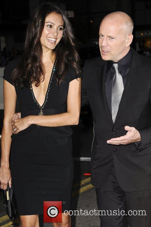 Bruce Willis, Emma Heming The World Premiere of...