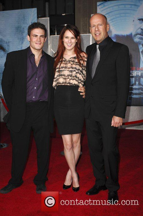 Scout LaRue, Rumer Willis and Bruce Willis The...