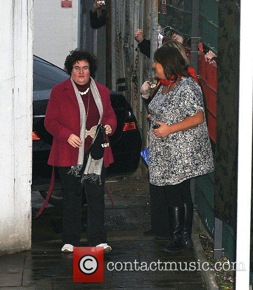 Susan Boyle leaves the 'X Factor' studios after...