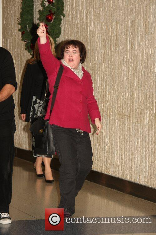 Susan Boyle arrives at JFK airport New York...