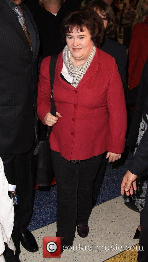 Susan Boyle arrives at JFK airport
