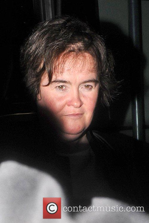 Susan Boyle arriving back at her hotel looking...