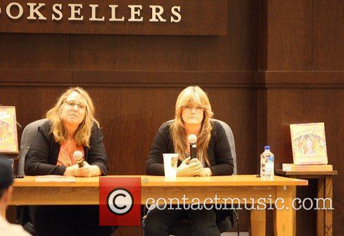 Susan Olsen attends a book signing at Barnes...