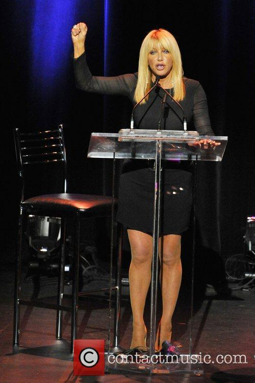 Actress and Author, Suzanne Somers addresses the audience...