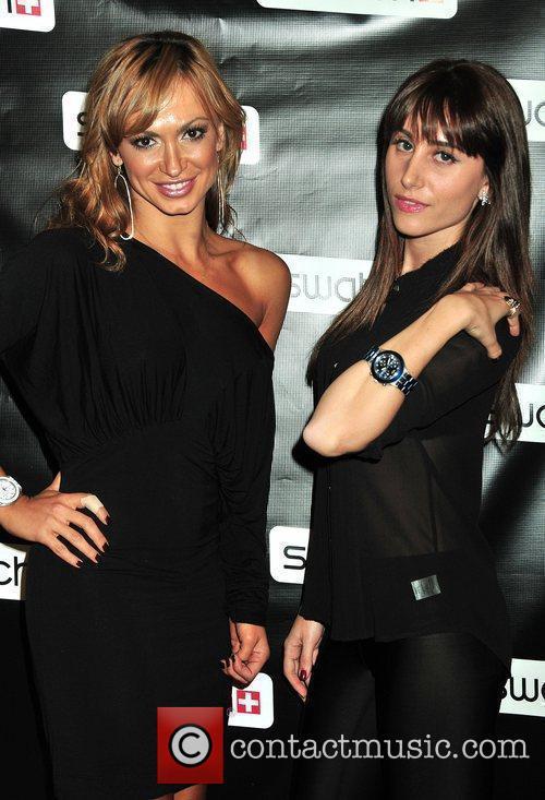 Karina Smirnoff and Rachel Heller Swatch Times Square...