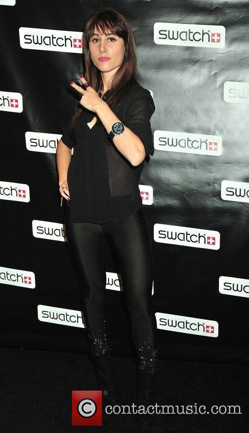 Rachel Heller Swatch Times Square flagship store grand...