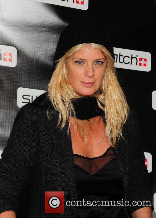 Rachel Hunter Swatch Times Square flagship store grand...