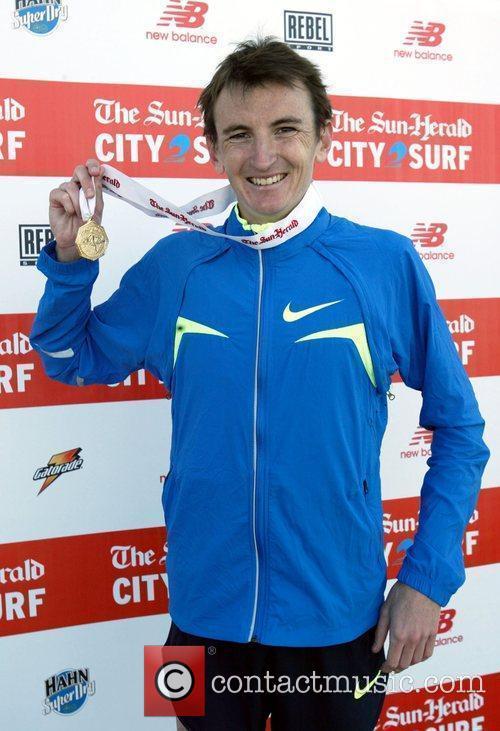 Michael Shelley, men's champion, who won his race...