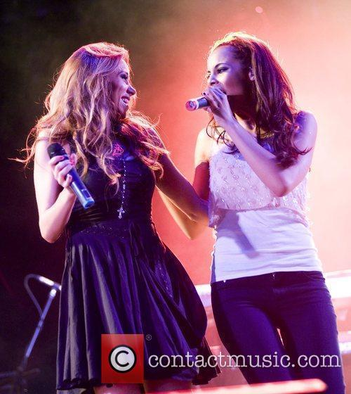 Una Healy and Rochelle Wiseman of The Saturdays...