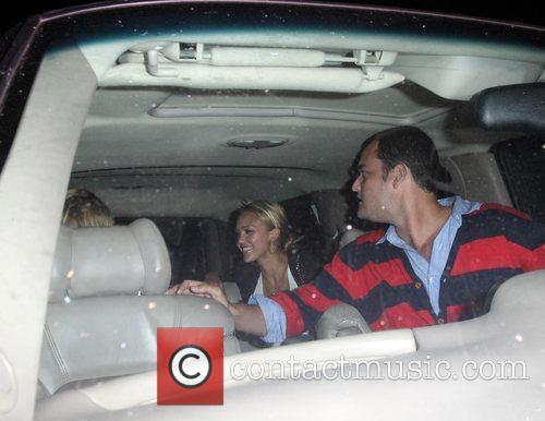 Rachel Zoe and Jessica Alba leaving Taverna Tony...