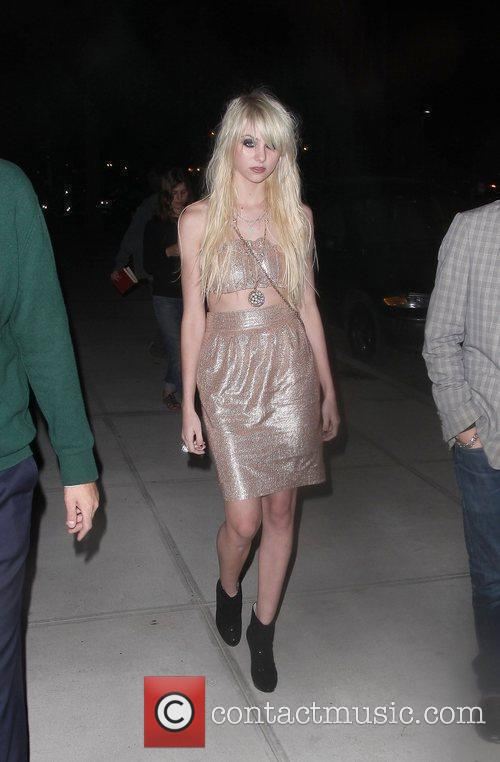 Taylor Momsen leaving a hotel in Manhattan with...