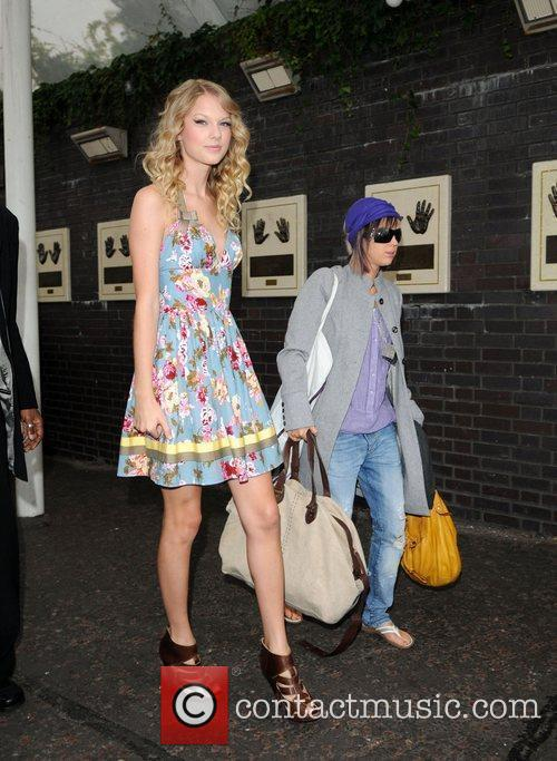 Taylor Swift arriving at the London studios to...