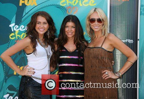Miley Cyrus, Fergie aka Stacy Ferguson and Tish...