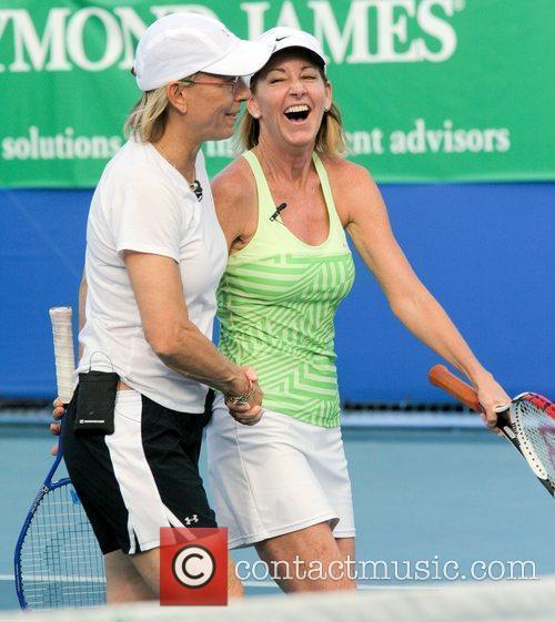 Chris Evert and Martina Navratilova 3