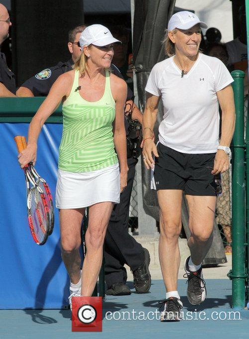 Chris Evert and Martina Navratilova 7