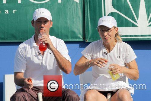 Jeffrey Donovan & Martina Navratilova participate in the...