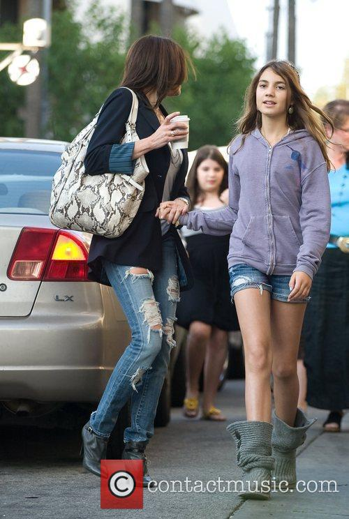 Teri Hatcher goes shopping with her daughter Emerson...